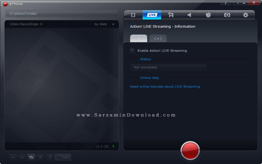 نرم افزار فیلمبرداری از دسکتاپ - Mirillis Action 1.30