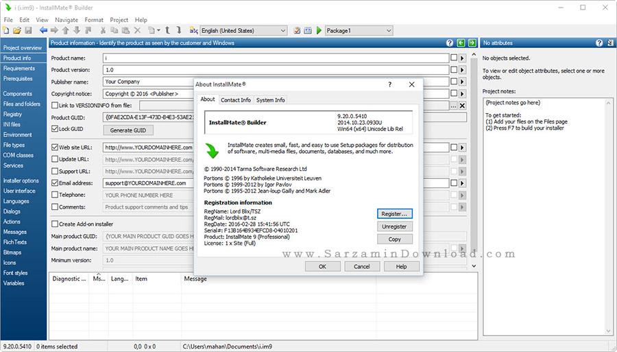 نرم افزار ایجاد برنامه نصب - Tarma InstallMate 9.20
