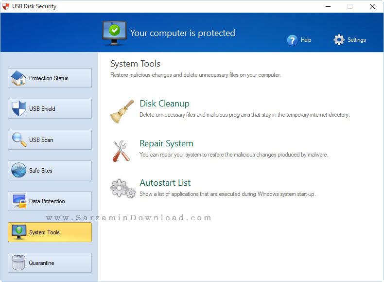نرم افزار امنیتی فلش - USB Disk Security 6.5