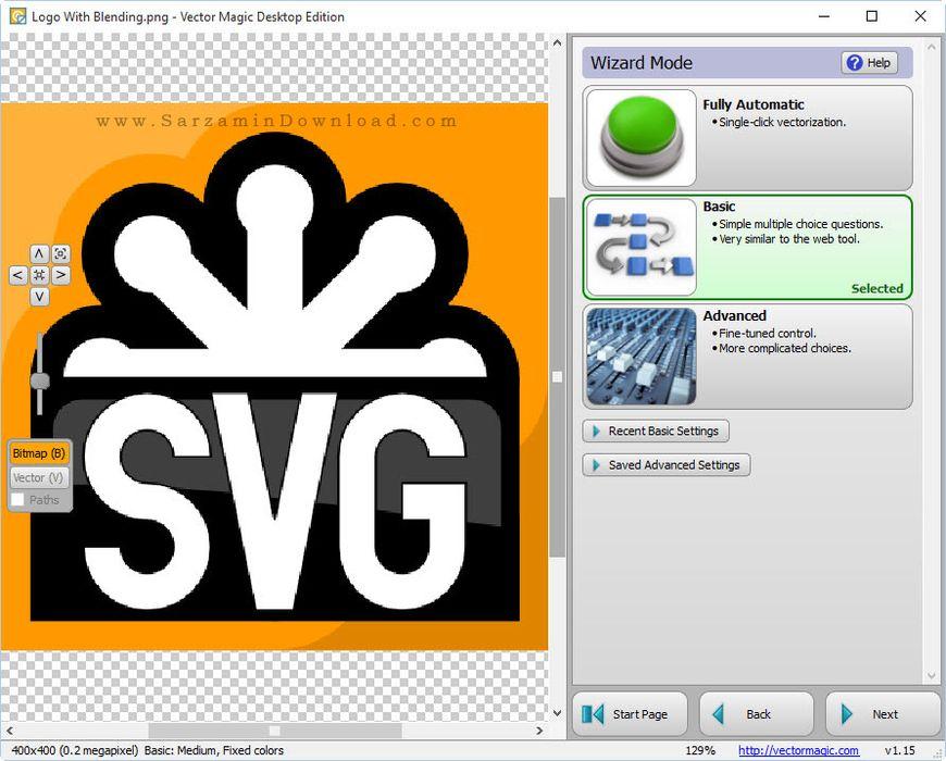 نرم افزار وکتور مجیک - Vector Magic 1.15