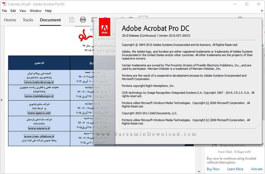 نرم افزار حرفه ای ویرایش و ساخت فایل های پی دی اف - Adobe Acrobat Pro DC 2015