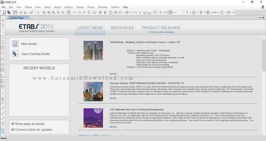 نرم افزار طراحی و تحلیل ساختمان - CSI ETABS 2015 v15.1