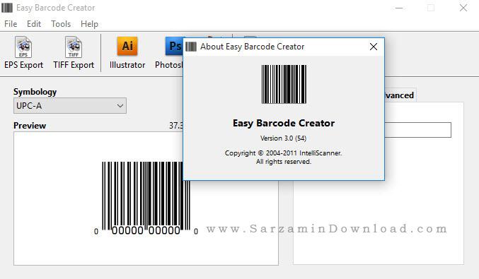نرم افزار طراحی و ایجاد بارکد - Easy Barcode Creator 3