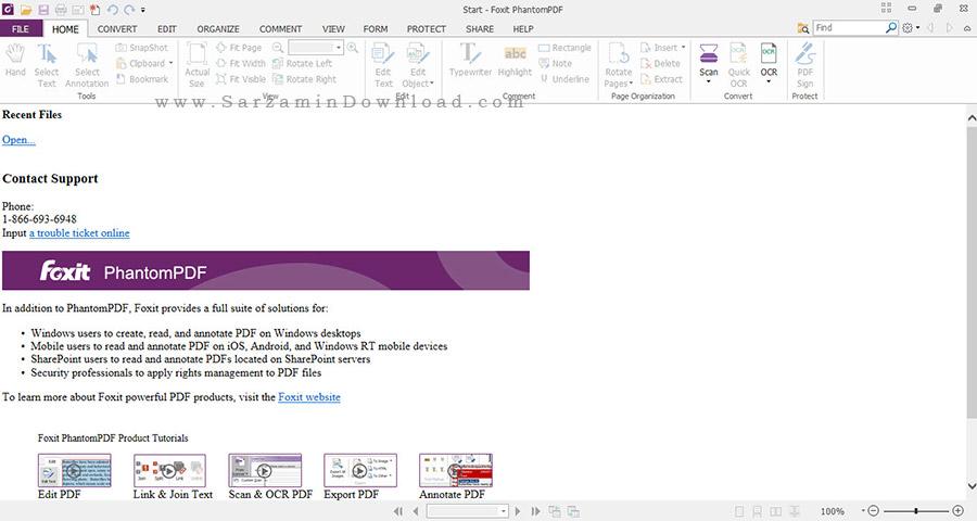 ویرایش PDF با امکانات فراوان - Foxit PhantomPDF Business 7.3