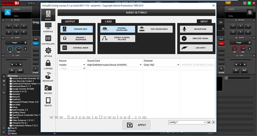 نرم افزار شبیه سازی دستگاه دی جی برای میکس آهنگ - Virtual DJ Pro 8.1