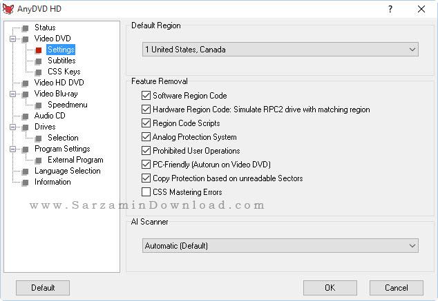 نرم افزار کپی DVD های قفل دار - AnyDVD HD 7.6.9.1