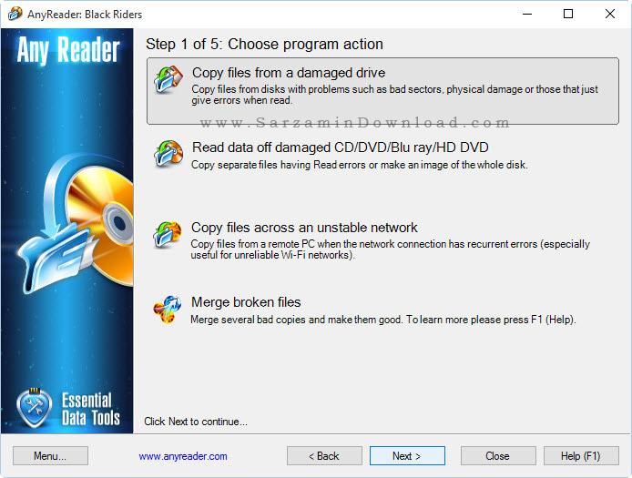 نرم افزار کپی اطلاعات از دیسک های خراب - AnyReader 3.16