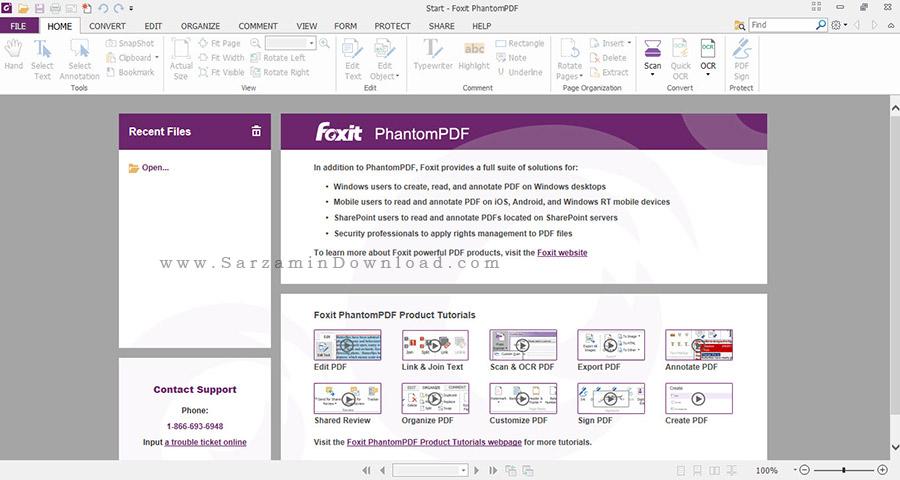 نرم افزار ویرایش PDF با امکانات فراوان - Foxit PhantomPDF Business 7.3.6