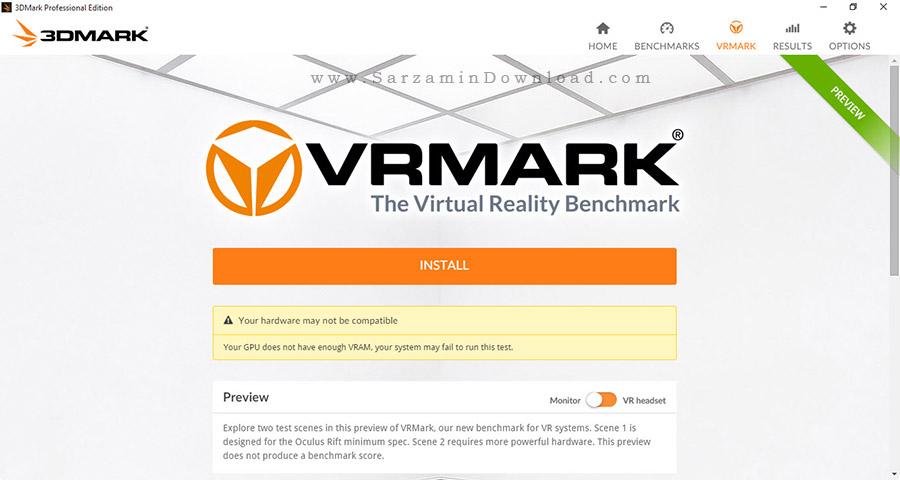 نرم افزار تست کارت گرافیکی سیستم - Futuremark 3DMark 2 Professional Edition