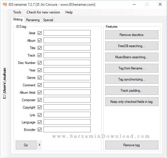 نرم افزار ویرایش تگ فایلهای MP3 به صورت گروهی - ID3 Renamer 7.2.7