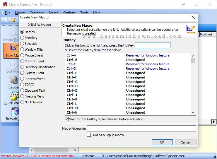 نرم افزار انجام کارهای تکراری در ویندوز - Easy Macro Recorder 4.7.1