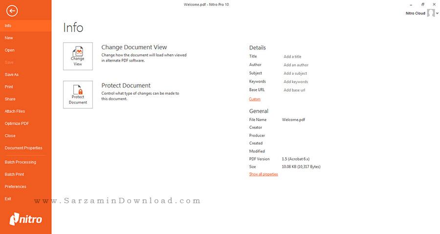 نرم افزار ساخت و ویرایش فایل های پی دی اف - Nitro Pro 10.5.8