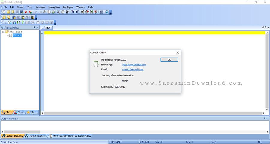 نرم افزار مدیریت FTP با قابلیت ویرایش اسکریپت ها به صورت آنلاین - PilotEdit 9