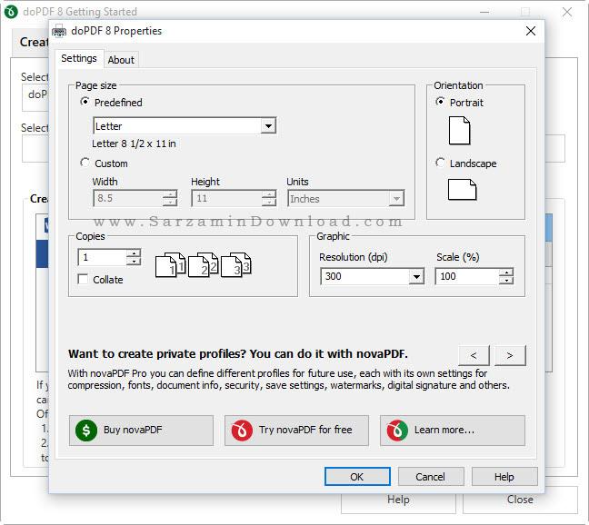 نرم افزار تبدیل فایلهای آفیس به PDF با قابلیت ویرایش - doPDF 8.5 Build 940