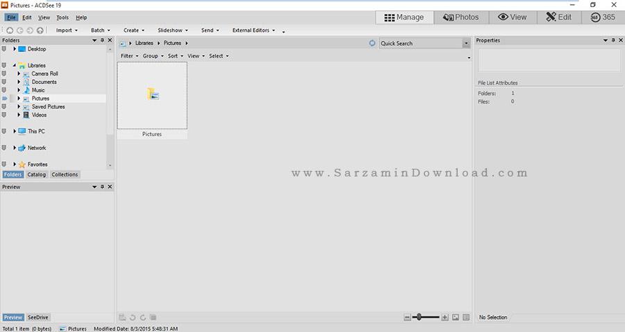 نرم افزار محبوب نمایش عکس - ACDSee 19.2