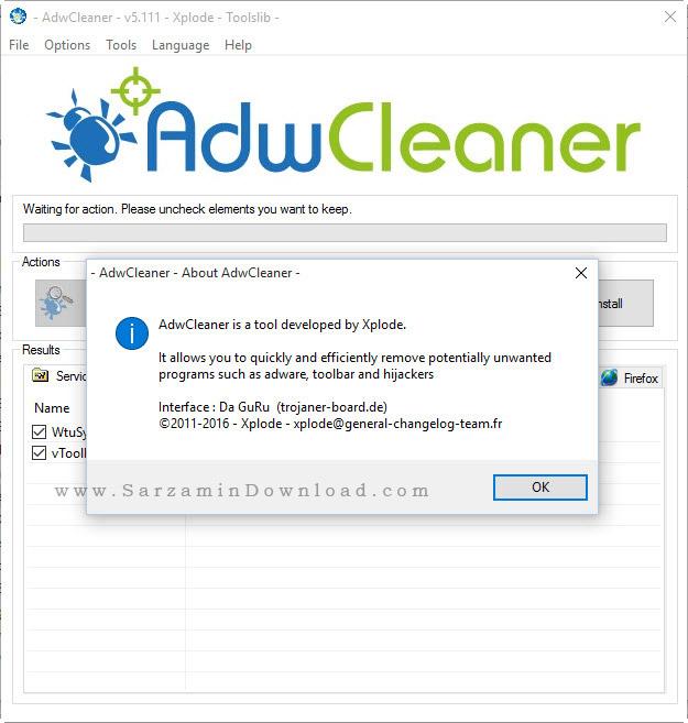 نرم افزار ضد تبلیغات اینترنتی - AdwCleaner 5.111