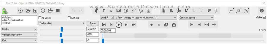 نرم افزار ایجاد نوشته های سه بعدی - BluffTitler 12.3