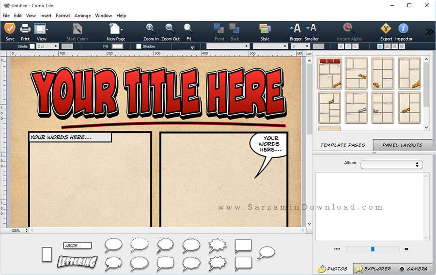 نرم افزار ساخت کمیک استریپ - Comic Life 3.5