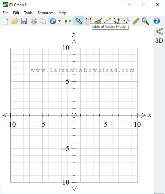 نرم افزار رسم نمودار های ریاضی - FX Graph 6.002