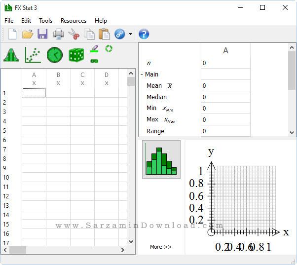 نرم افزار طراحی نمودار های آمار - FX Stat 3.008