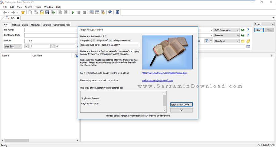 نرم افزار جستجو در کامپیوتر - FileLocator Pro 8.0.2