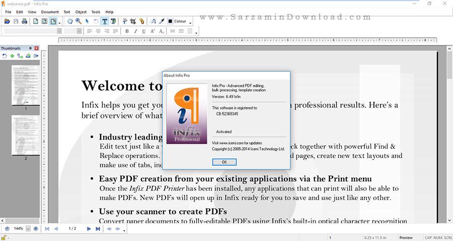 نرم افزار حرفه ای ویرایش PDF با امکانات فراوان - Infix PDF Editor Pro 6.49