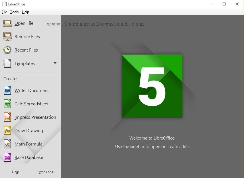 نرم افزار مشابه آفیس - LibreOffice 5.1.2
