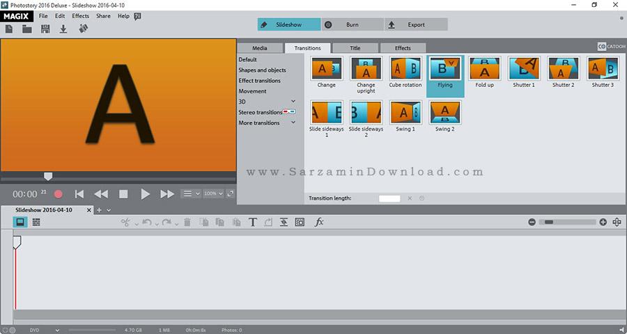 نرم افزار ساخت اسلاید شو از تصاویر - MAGIX Photostory 2016 Deluxe 15.0.4
