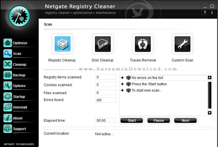 نرم افزار پاکسازی رجیستری ویندوز - NETGATE Registry Cleaner 13