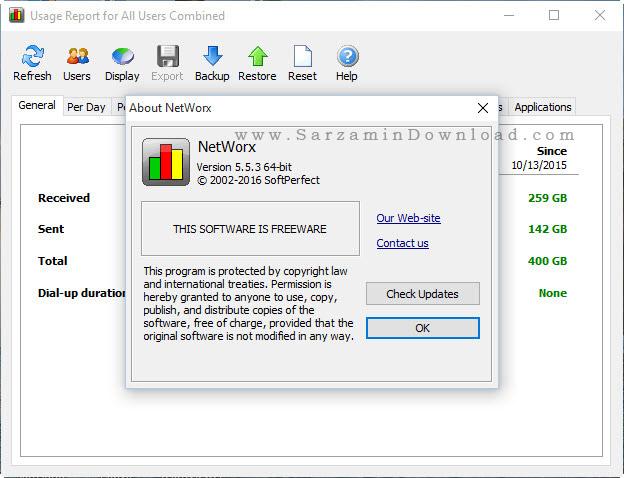 نرم افزار کنترل ترافیک اینترنت - Networx 5.5.3