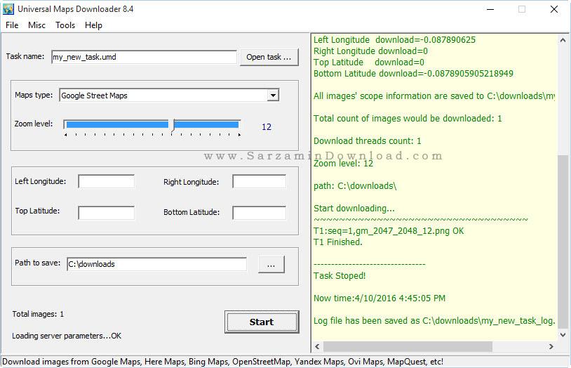 نرم افزار دانلود نقشه های گوگل مپ برای کامپیوتر - Google Maps Downloader 8.4