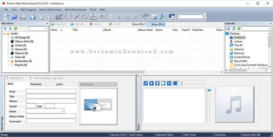 نرم افزار مدیریت حرفه ای فایل های صوتی - Zortam Mp3 Media Studio Pro 20.25