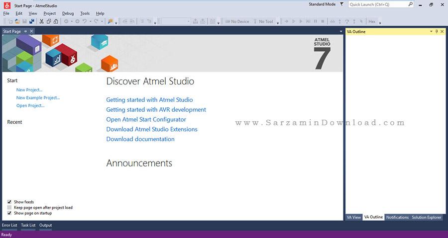 نرم افزار برنامه نویسی میکروکنترلر ها - Atmel Studio 7.0.7