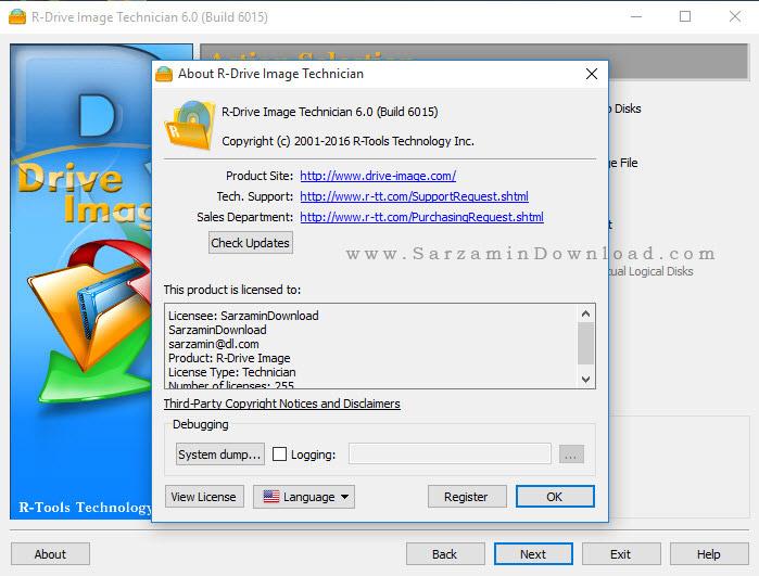 نرم افزار پشتیبان گیری از ویندوز - R-Drive Image 6 Build 6015
