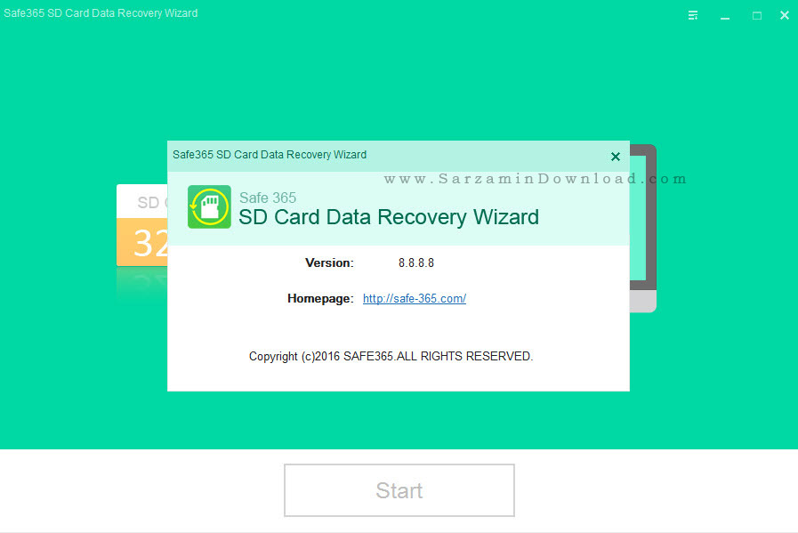 نرم افزار بازیابی اطلاعات مموری کارت ها - Safe365 SD Card Data Recovery Wizard 8.8
