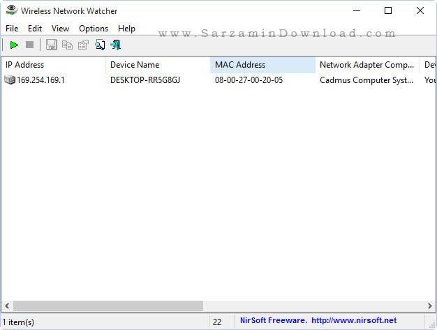 نرم افزار نظارت بر شبکه بی سیم - Wireless Network Watcher 1.91
