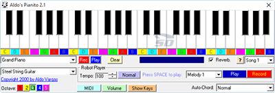 نرم افزار ارگ برای کامپیوتر - Aldos Pianito 2.1