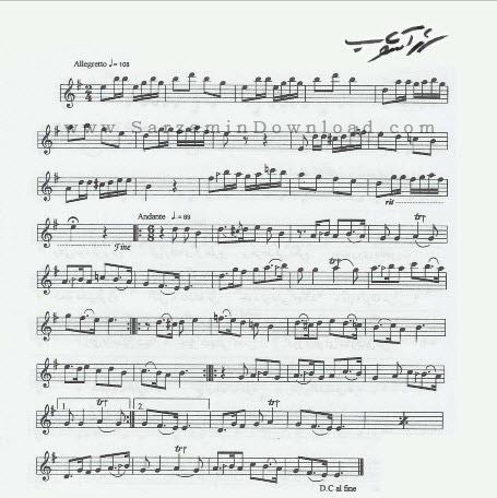 مجموعه نت های موسیقی