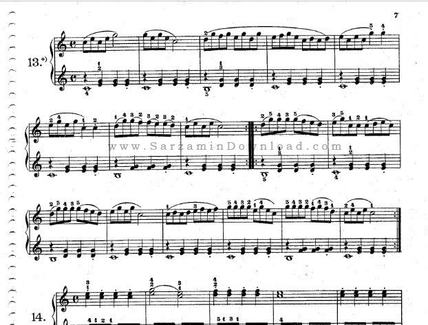 مجموعه نت برای پیانو