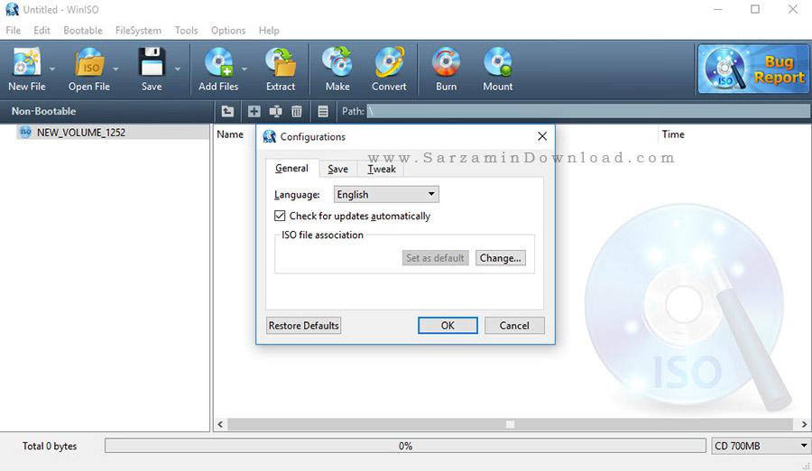 نرم افزار ساخت ایمیج و درایو مجازی - WinISO Standard 6.4.1