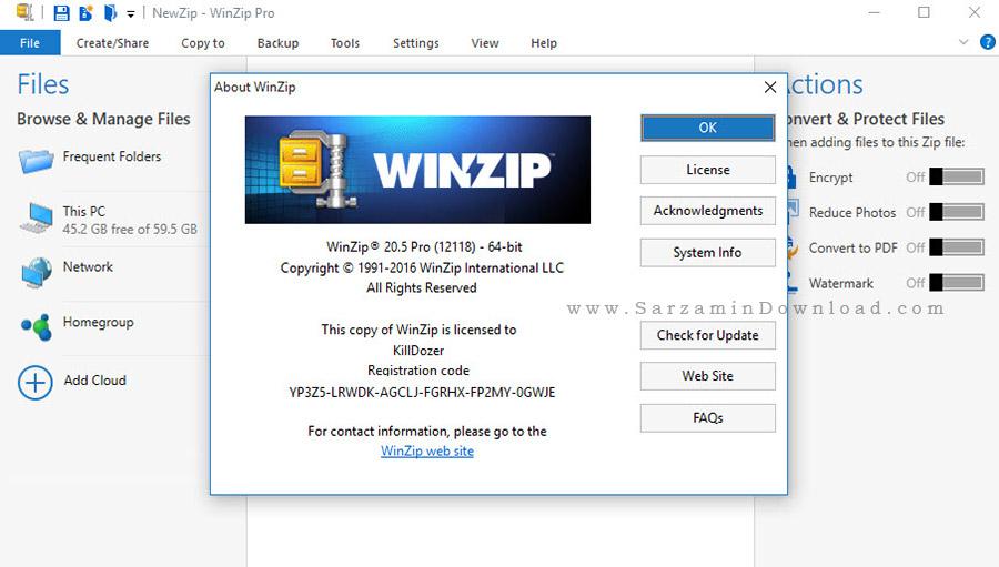 نرم افزار فشرده سازی وین زیپ - WinZip Pro 20.5