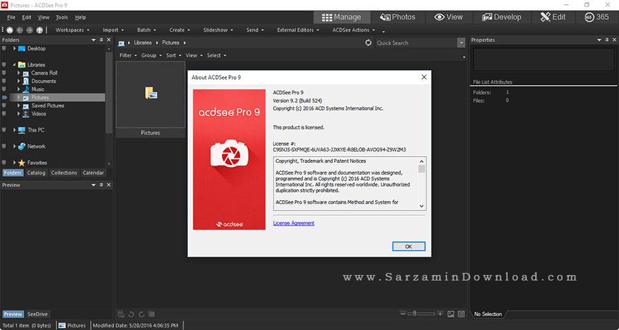 نرم افزار حرفه ای نمایش عکس - ACDSee Pro 9.2
