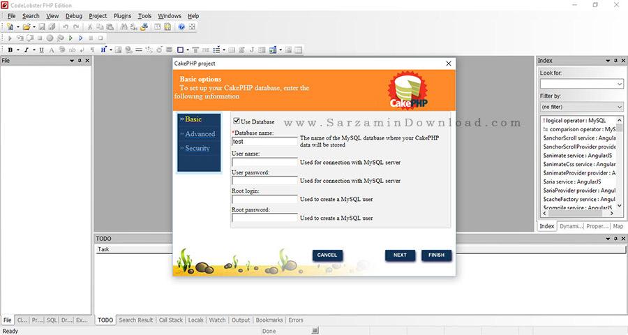 نرم افزار ویرایش کد های برنامه نویسی - CodeLobster PHP Edition Pro 5.9.1