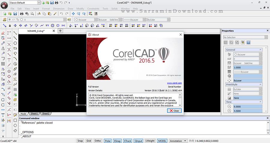 نرم افزار طراحی صنعتی - CorelCAD 2016.5