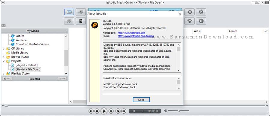 نرم افزار محبوب و حرفه ای جت آدیو - JetAudio 8.1.5.10314 Plus