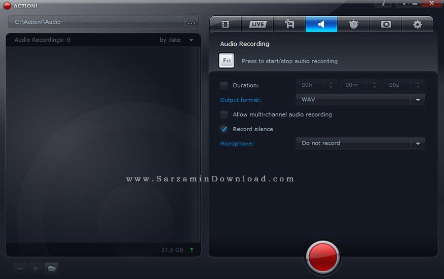 نرم افزار فیلمبرداری از دسکتاپ - Mirillis Action 1.31.3