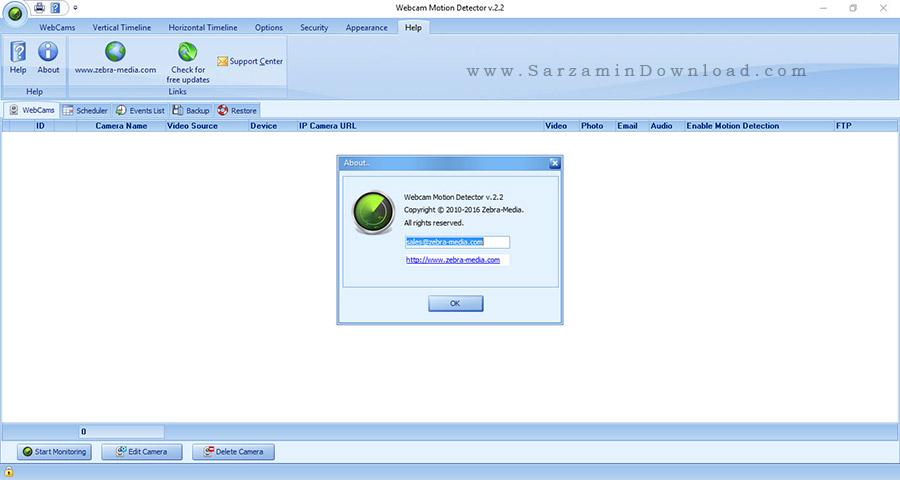 نرم افزار دزدگیر - Webcam Motion Detector 2.2