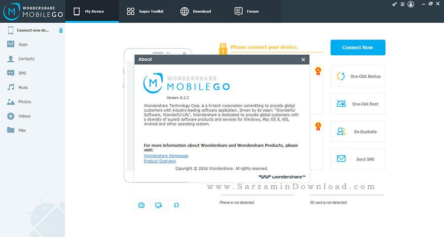 نرم افزار انتقال اطلاعات بین گوشی های اندروید،آیفون و کامپیوتر - Wondershare MobileGo 8.2.2