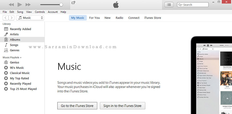 نسخه جدید نرم افزار آیتونز برای گوشی های اپل - iTunes 12.4.0.119