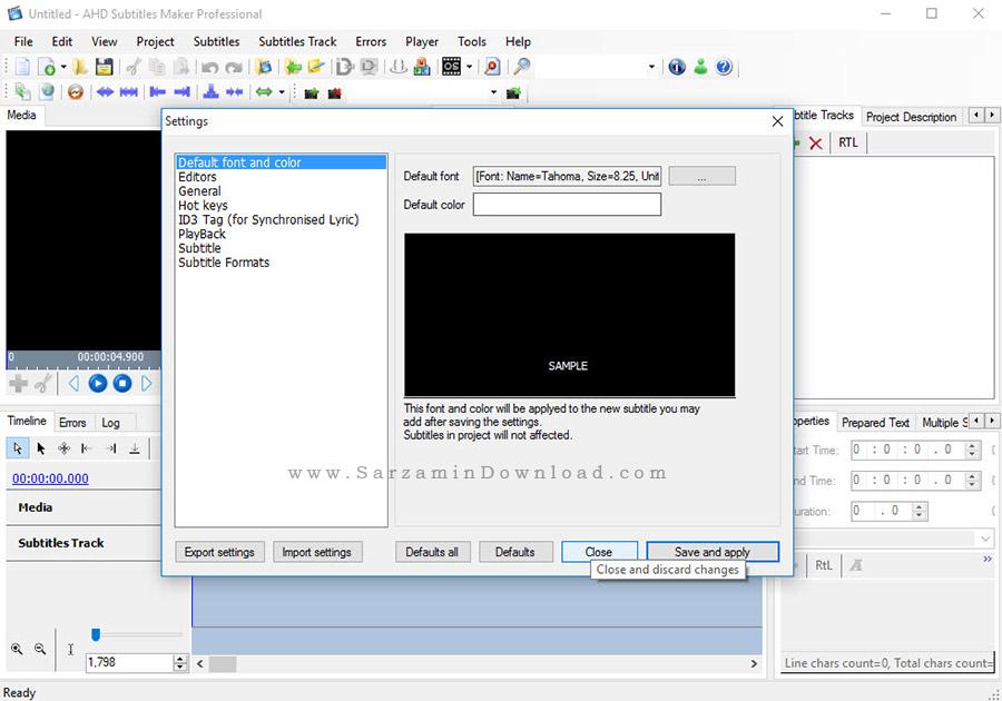 نرم افزار ایجاد و ویرایش زیرنویس - AHD Subtitles Maker Pro 5.14.44